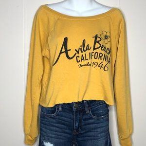 Tops - Avila Beach California Mustard Pullover Sweatshirt